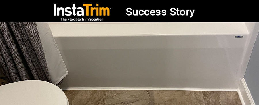 InstaTrim Real Success Story – Flexible Trim Strips Help Senior with Bathroom Mildew Problem