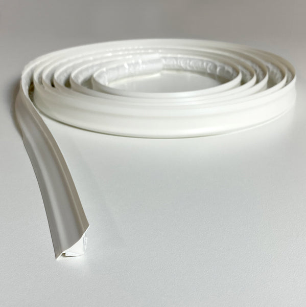 InstaTrim White Peel and Stick Flexible Trim - (3/4 In. * 3/8 In.) - 10 ft.