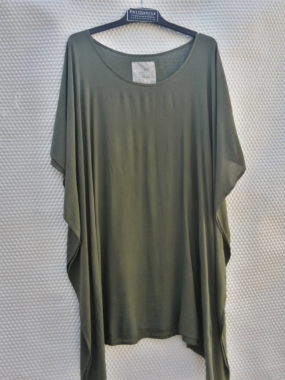 Olive Green Kaftan Top / Dress