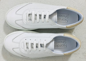 Anna 1 White Sneakers Beige