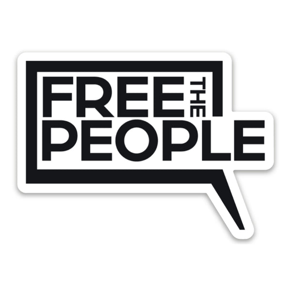 Free the People Logo Sticker