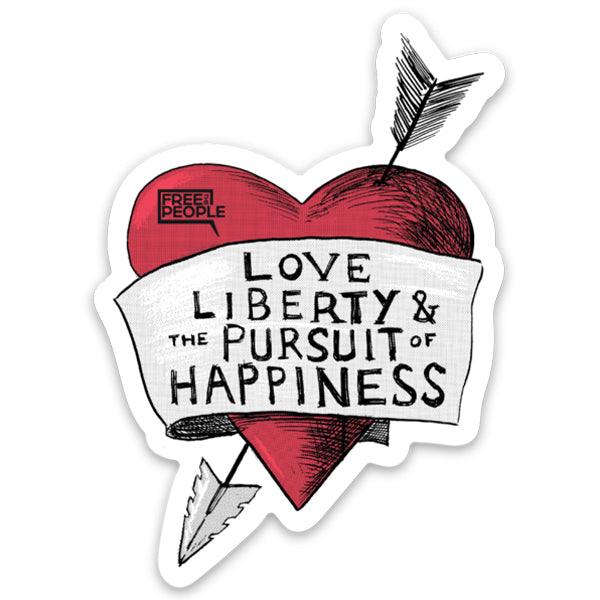 Love, Liberty Sticker