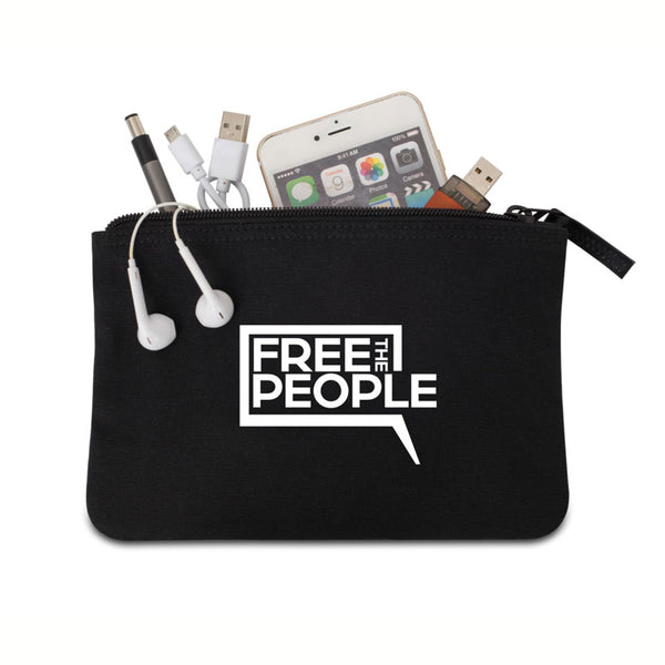Free the People Canvas Pouch