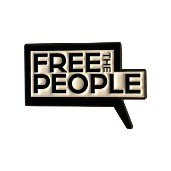 Free the People Enamel Pin