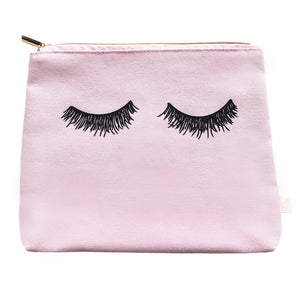 Sweet Water Decor - Pink Eyelashes Makeup Bag