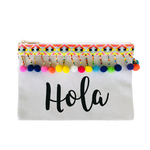 The Sleepy Cottage - Hola Pom Pom Makeup Bag