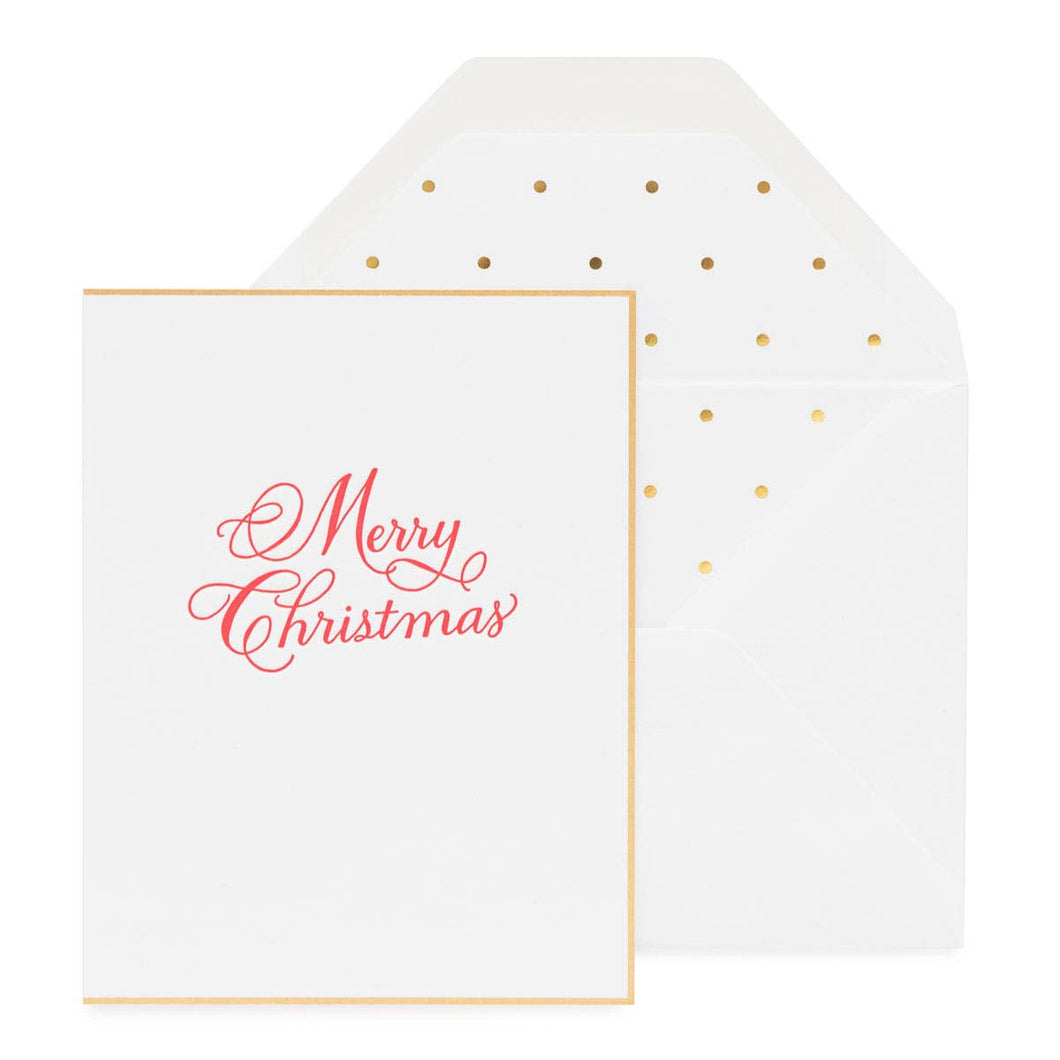 Sugar Paper - Traditional Merry Christmas Card