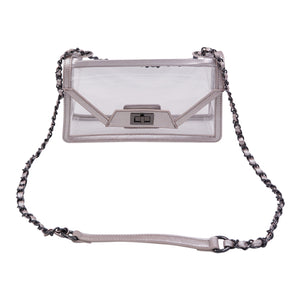 Policy Handbags - Clear Envelope Bag Cher- Mama Frost
