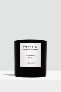 Aydry & Co. - Japanese Yuzu Wooden Wick Candle (8 oz)