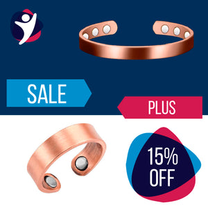 Magnetic Copper Bracelet + Ring (15% Discount)