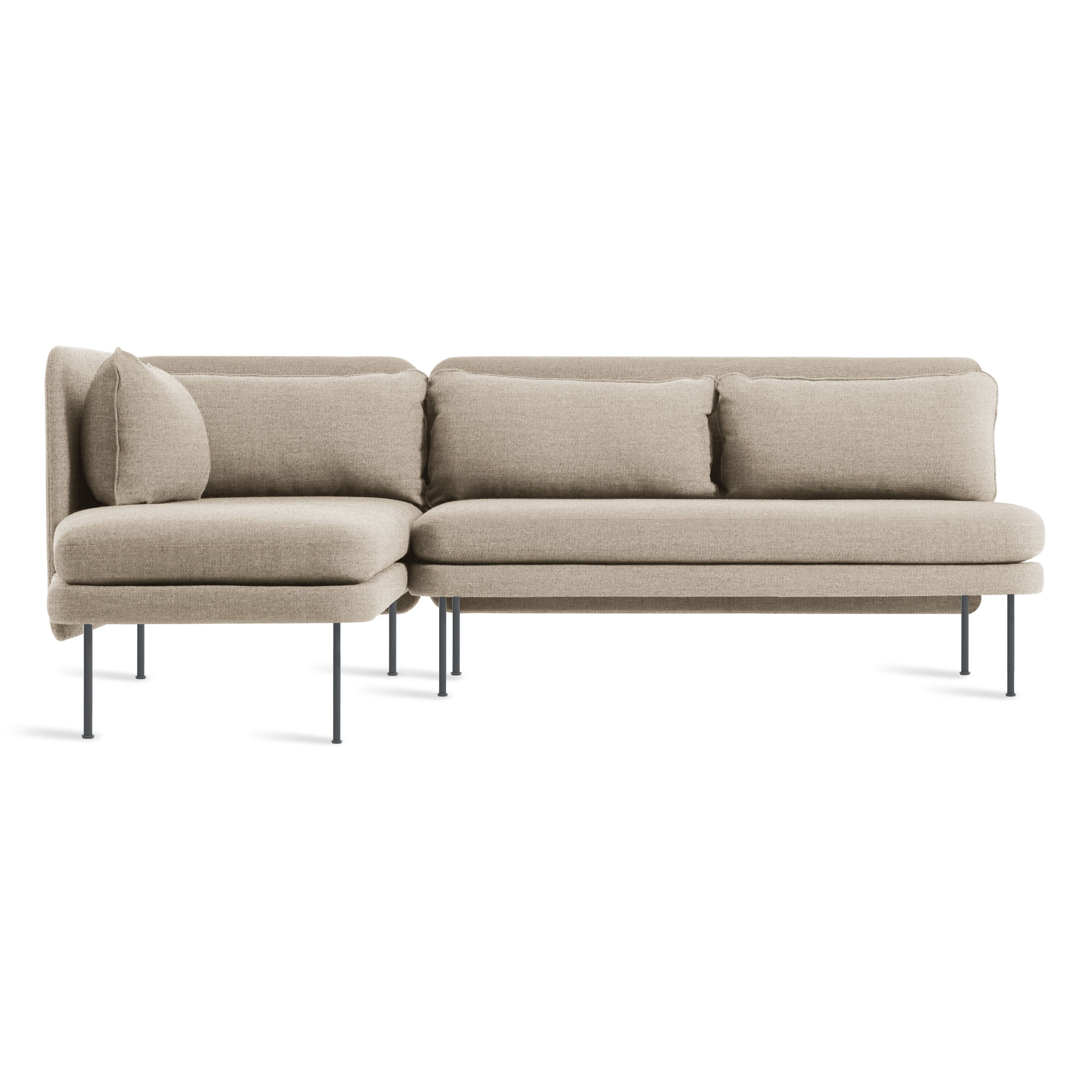 "Bloke 92"" Armless Sofa Chaise Sectional"