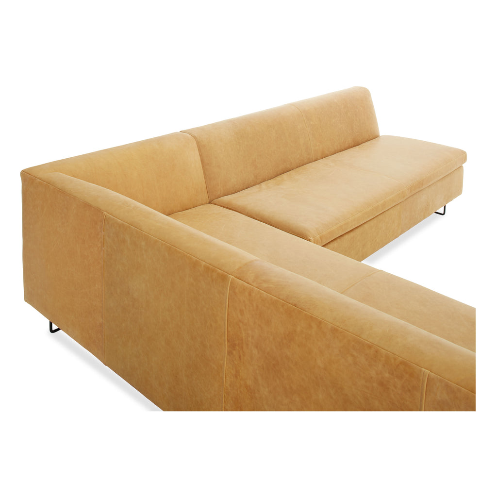"Bonnie and Clyde 100"" Leather Sectional Sofa"