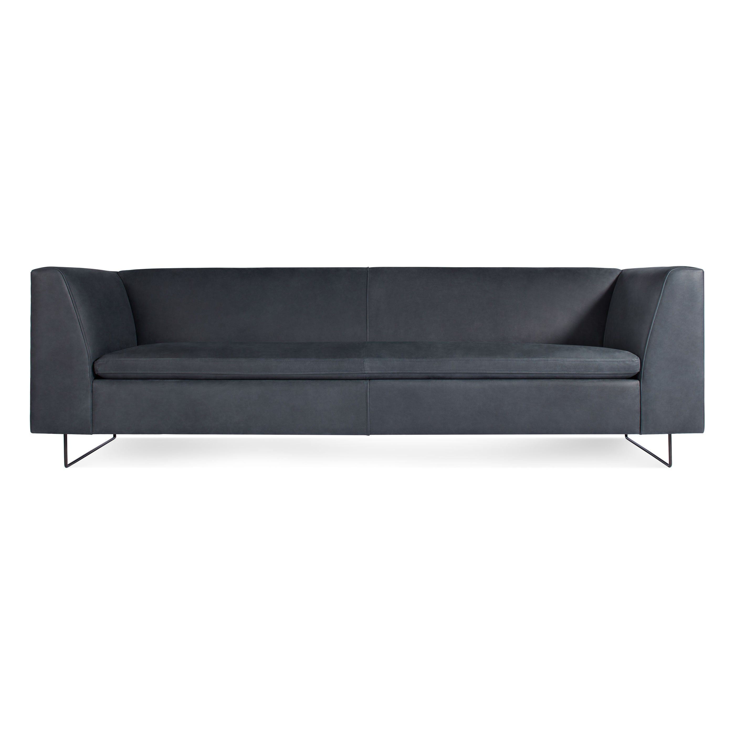"Bonnie 96"" Leather Studio Sofa"