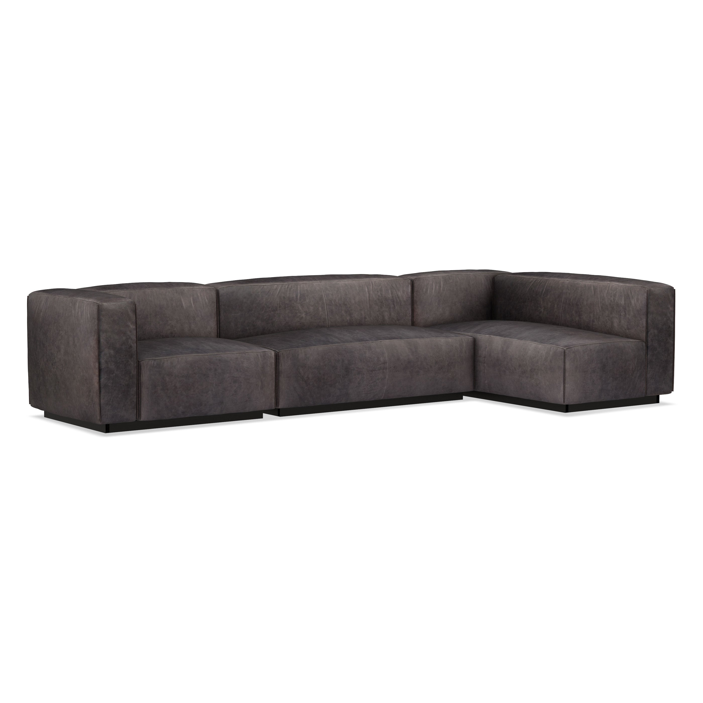 Cleon Medium+ Leather Modular Sectional Sofa