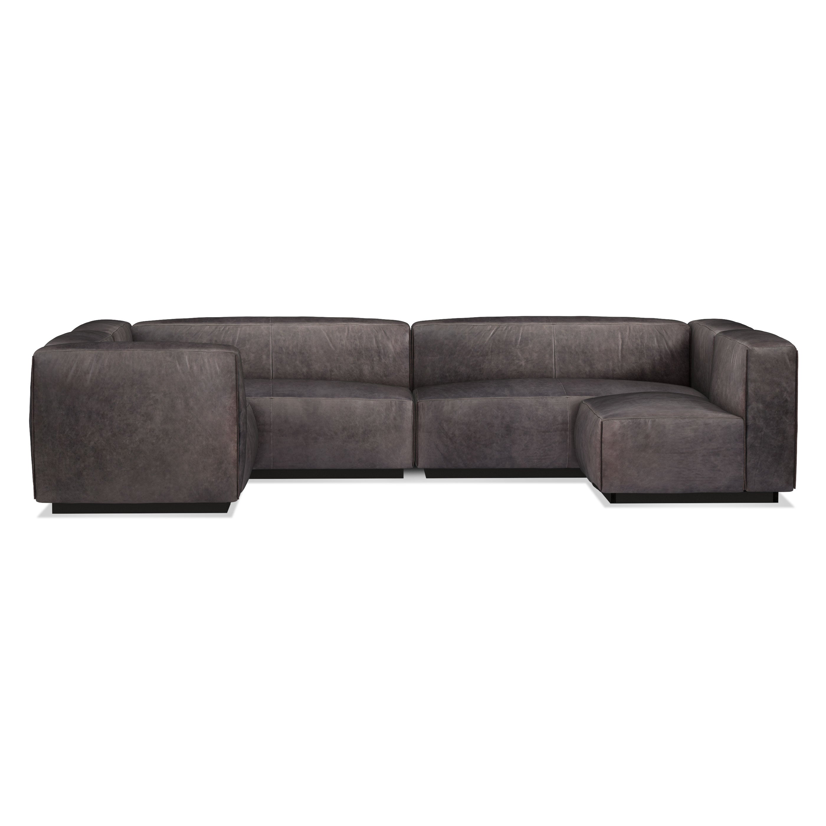 Cleon Large Leather Modular Sectional Sofa