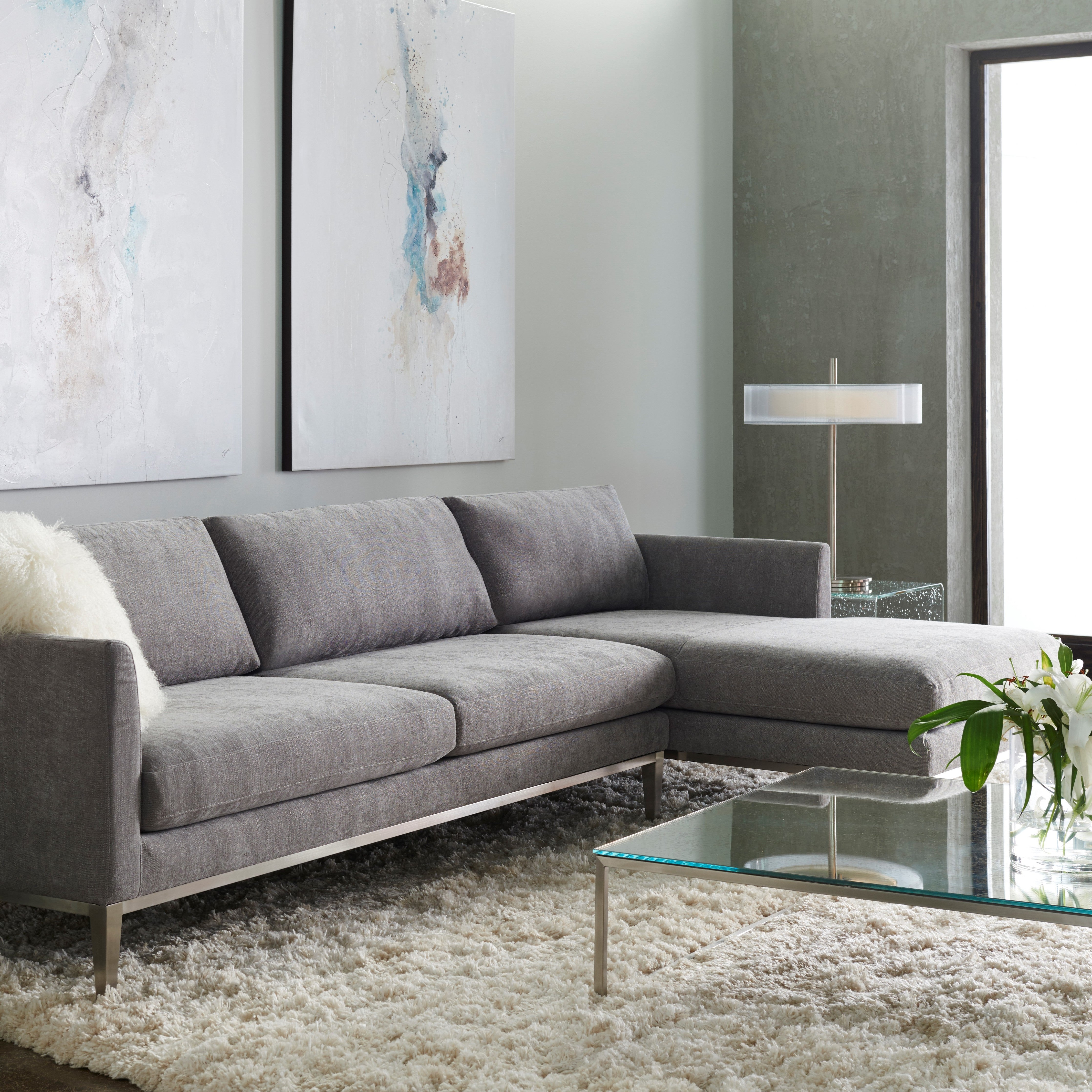 American Leather Henley Sofa Sectional – Lacuna Modern Furniture