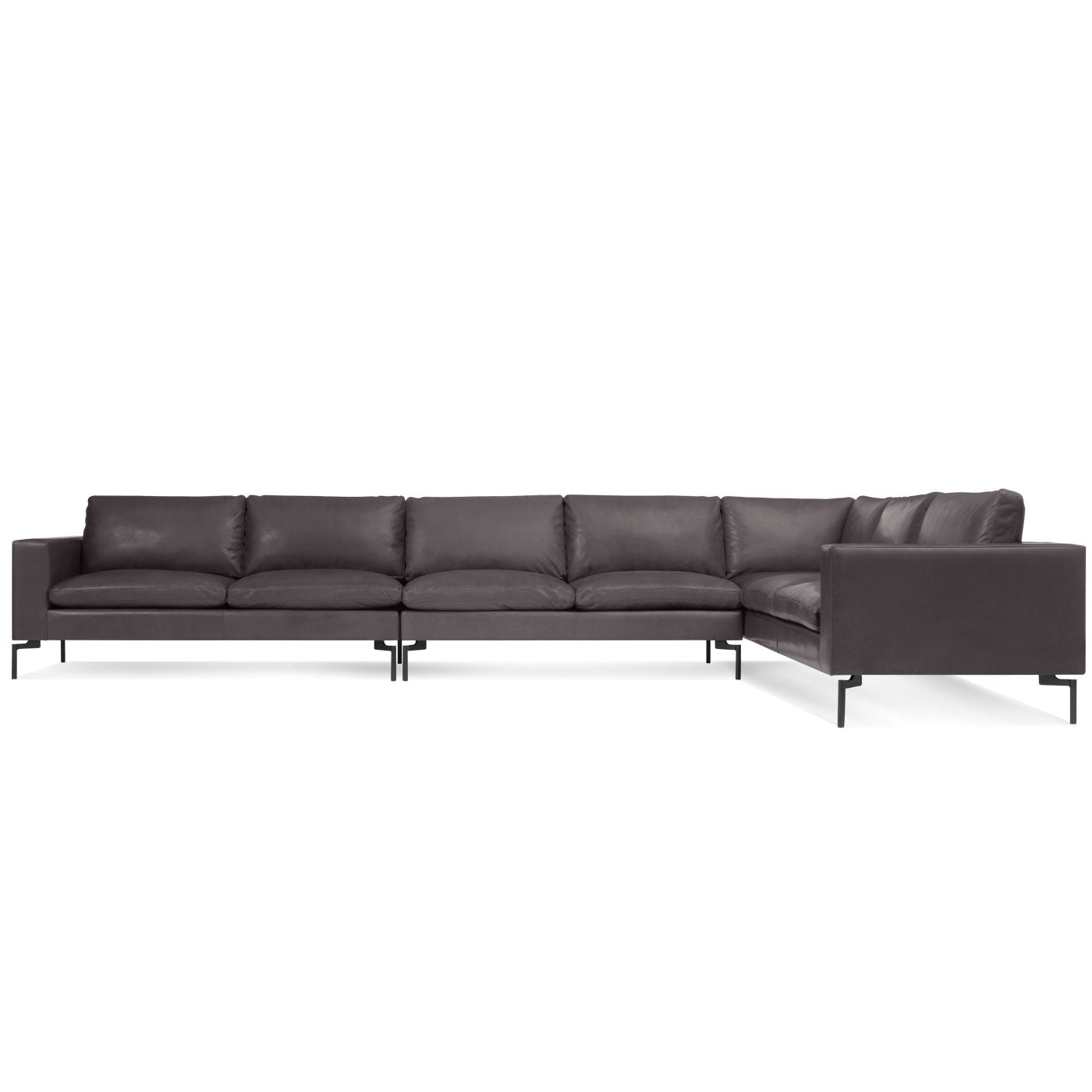"New Standard 162"" Leather Sofa Sectional"