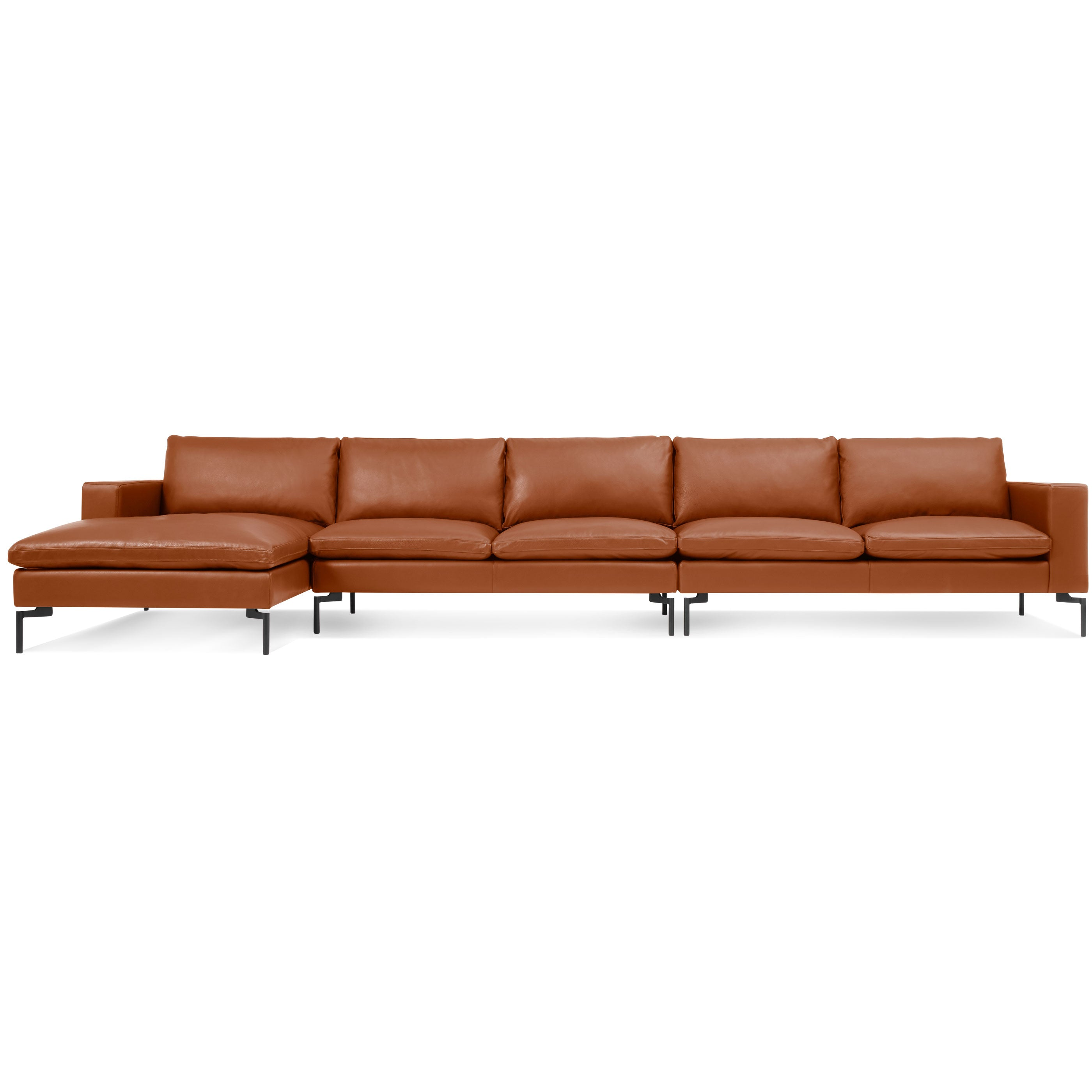 "New Standard 165"" Leather Sofa Sectional"