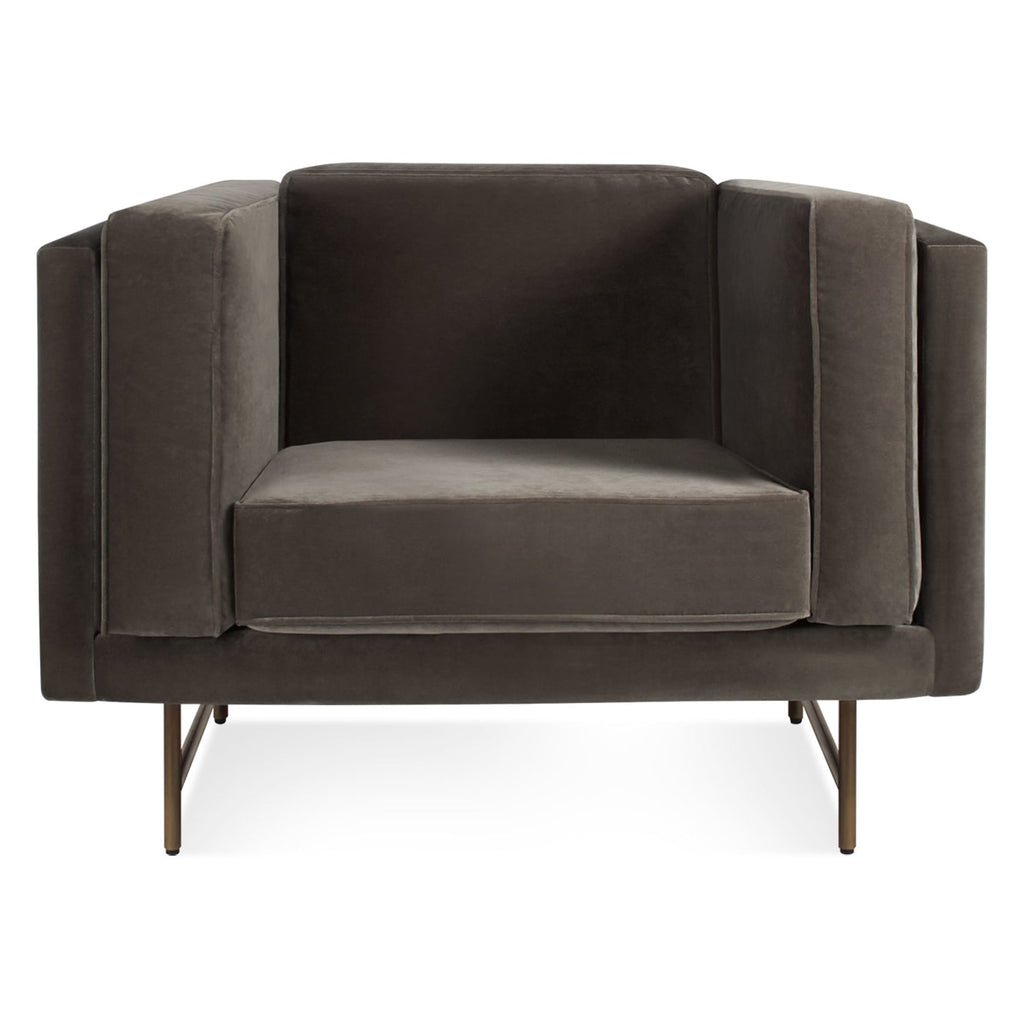 Bank Velvet Lounge Chair