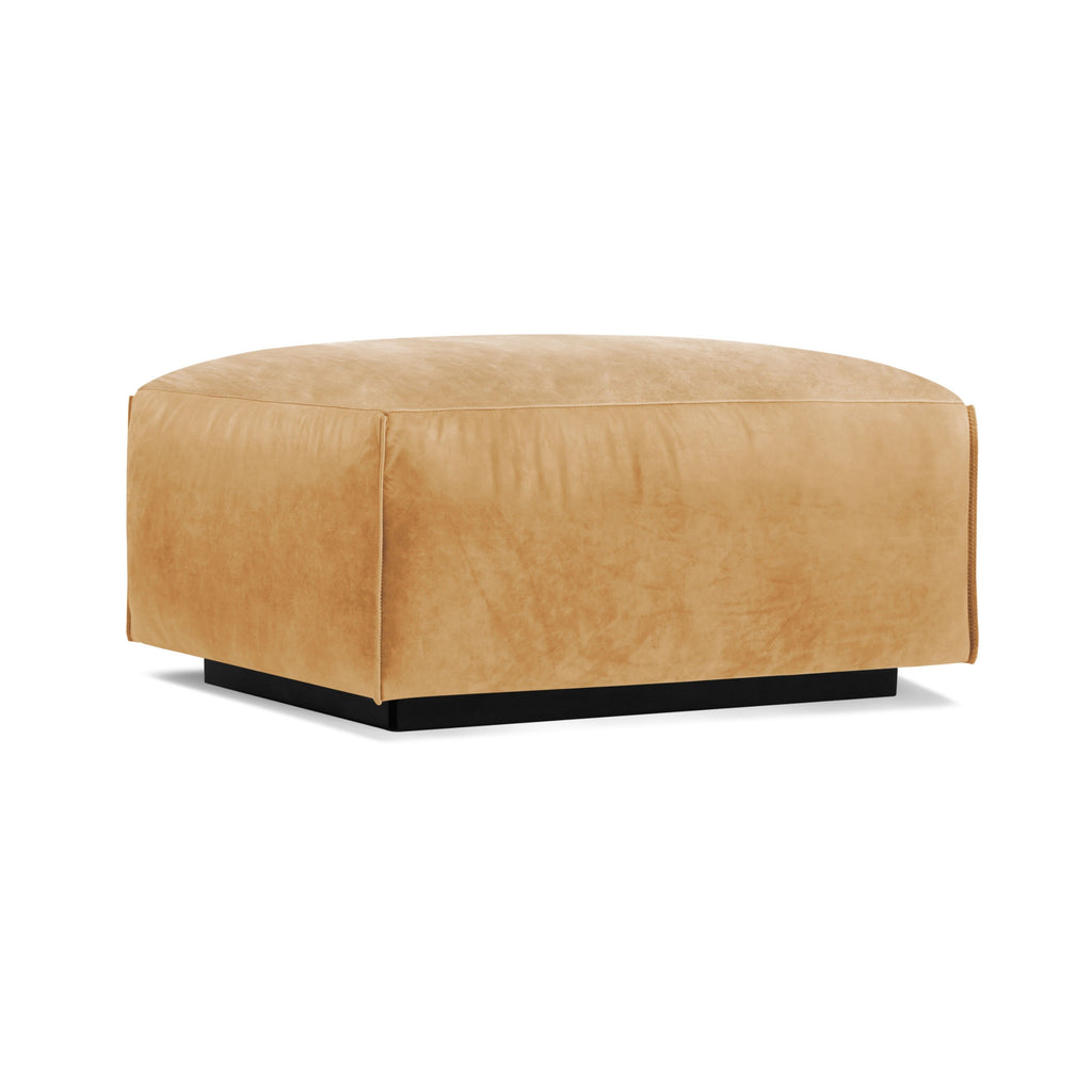 Cleon Leather Ottoman