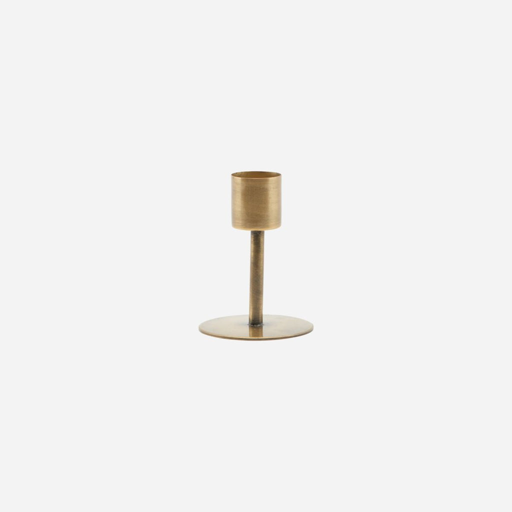 """ANIT"" BRASS CANDLE STAND - SMALL - BY HOUSE DOCTOR candle holder HOUSE DOCTOR"