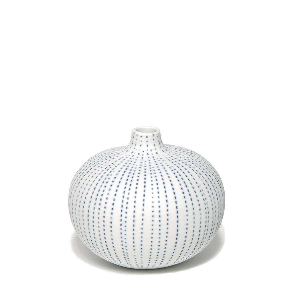 """BARI"" VASE MEDIUM - BLUE DOTS - BY LINDFORM vase LINDFORM"