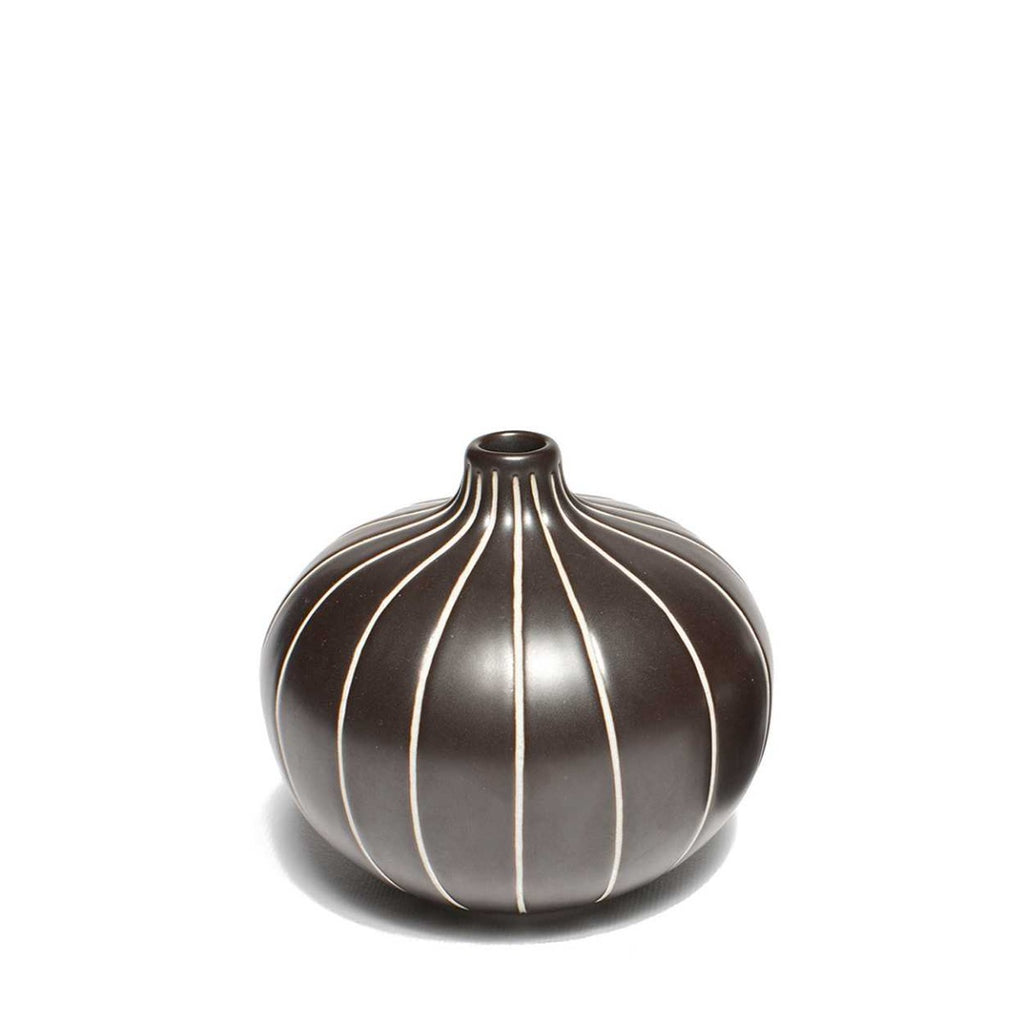 """BARI"" VASE MEDIUM - BROWN STRIPE - BY LINDFORM vase LINDFORM"
