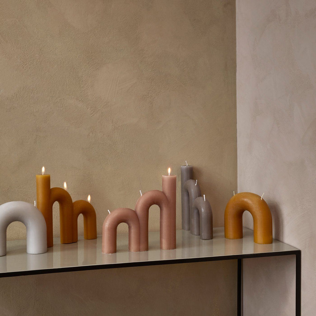 BEND CANDLE - FUNGI - BY BROSTE COPENHAGEN CANDLE Broste Copenhagen