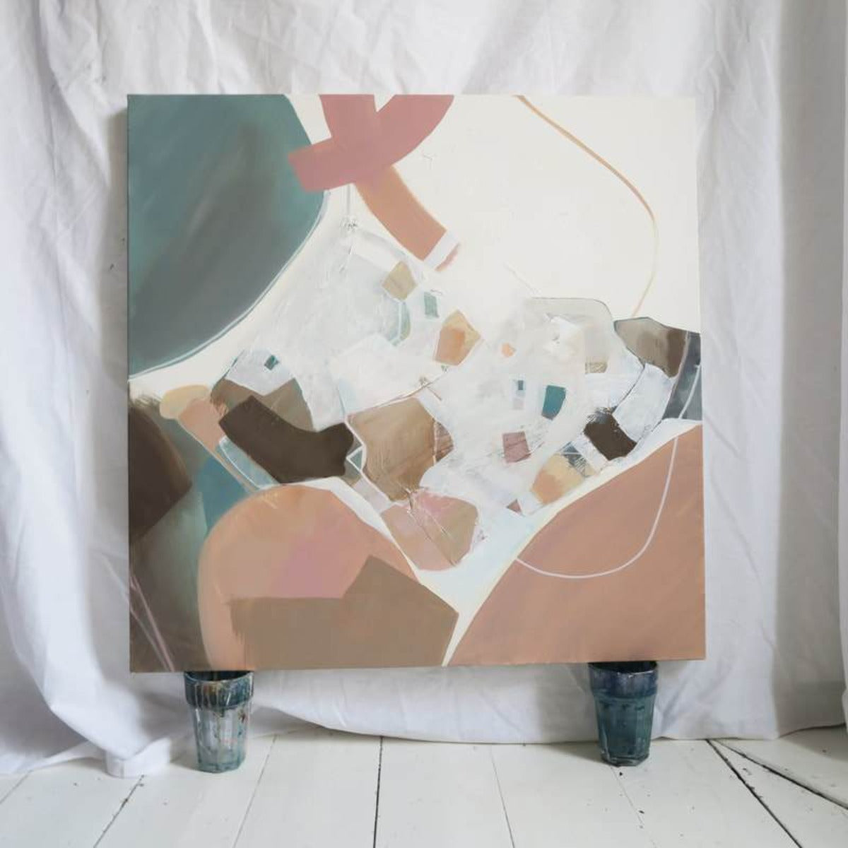 """BLUE BLUSH"" PAINTING ON CANVAS - BY CHRISTINA STUDIO Art CHRISTINA STUDIO"