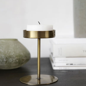 BRASS TEALIGHT STAND I am Nomad