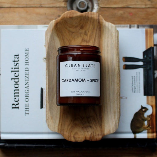 """CARDAMOM & SPICE"" SOY CANDLE - BY CLEAN SLATE CANDLE CLEAN SLATE"