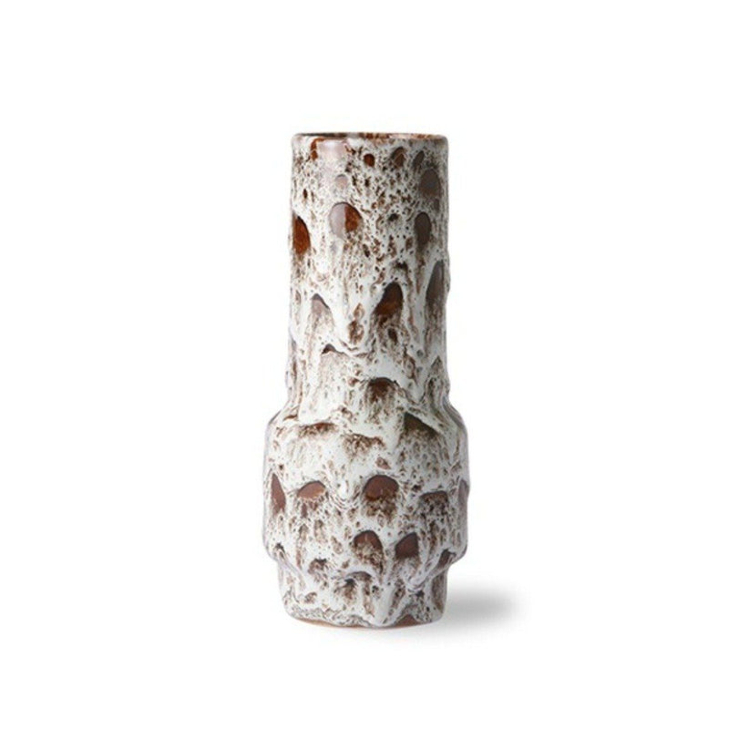 Ceramic Retro Vase | Lava White HK LIVING