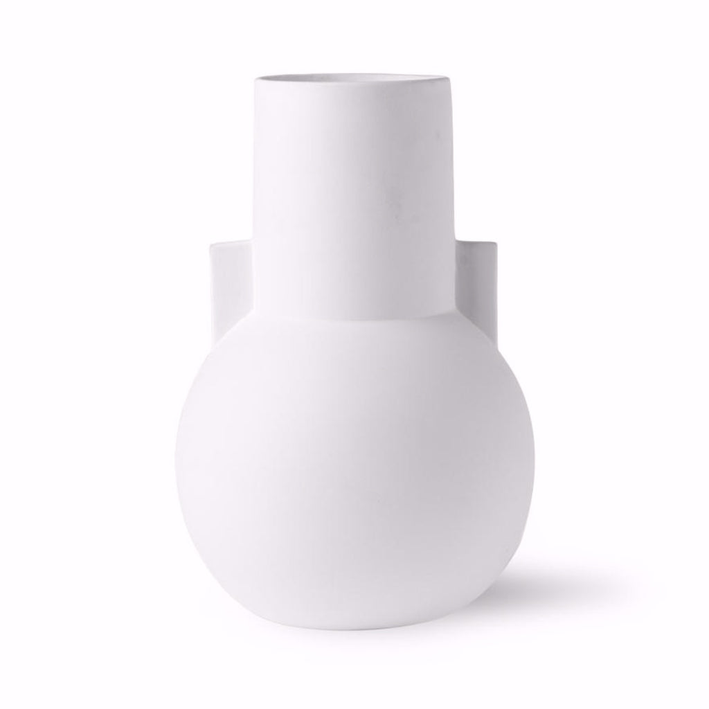 CERAMIC ROMAN VASE - SMALL MATT WHITE - BY HK LIVING vase HK LIVING