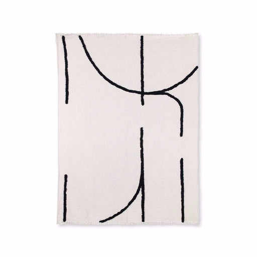 CREAM THROW W/ TUFTED BLACK LINES - BY HK LIVING throw HK LIVING