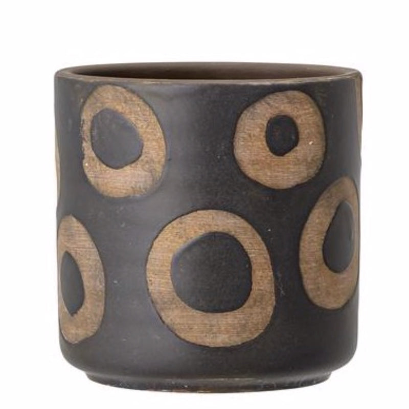 DECO FLOWERPOT BLACK I am Nomad