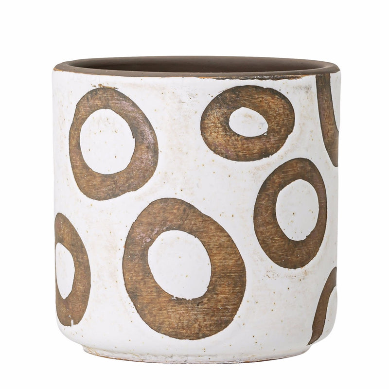 FLOWERPOT WHITE CIRCLES - BY BLOOMINGVILLE planter bloomingville