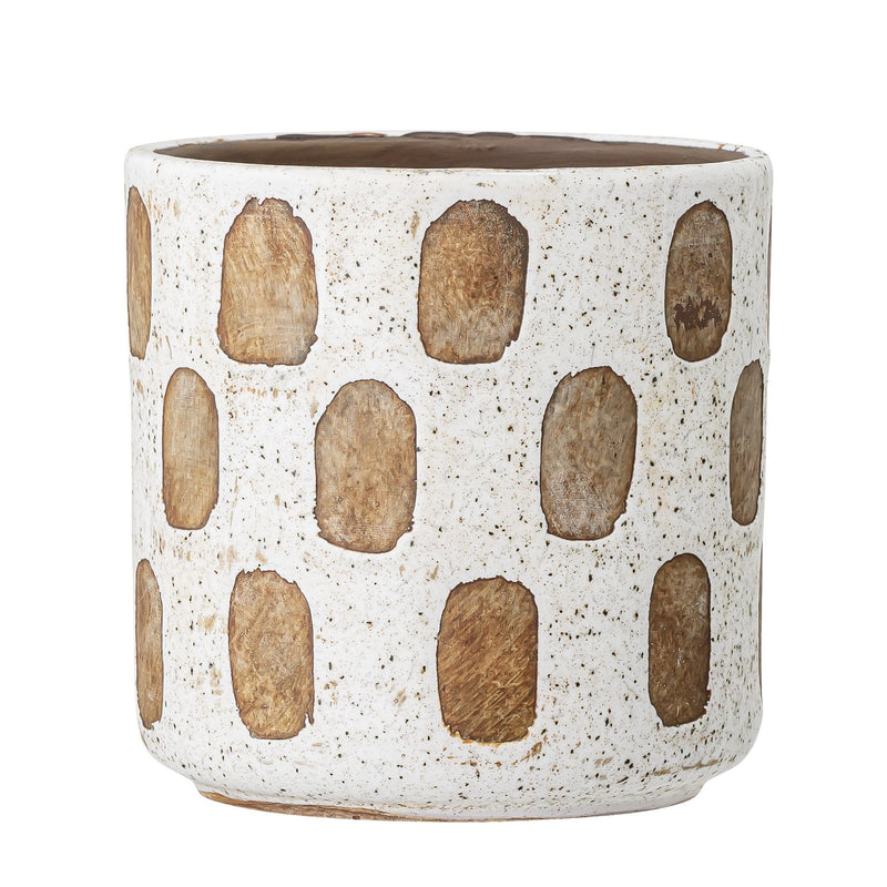 FLOWERPOT WHITE SQUARES - BY BLOOMINGVILLE planter bloomingville
