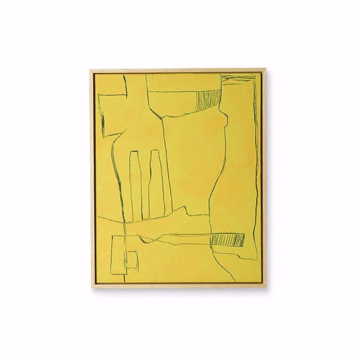 FRAMED BRUTALIST PAINTING - YELLOW - BY HK LIVING Art HK LIVING