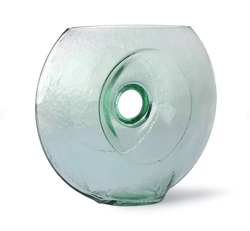 GLASS CIRCLE VASE I am Nomad