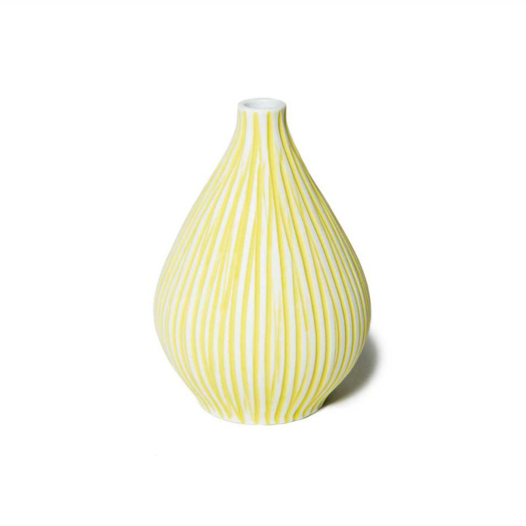 """KOBI"" VASE - YELLOW STRIPE - BY LINDFORM vase LINDFORM"