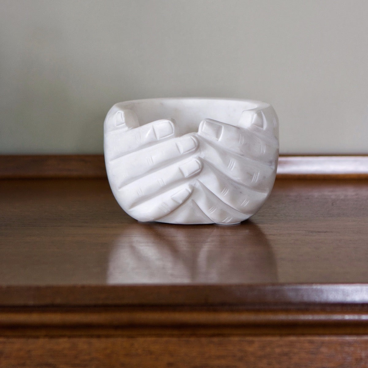 marble hands bowl I am Nomad