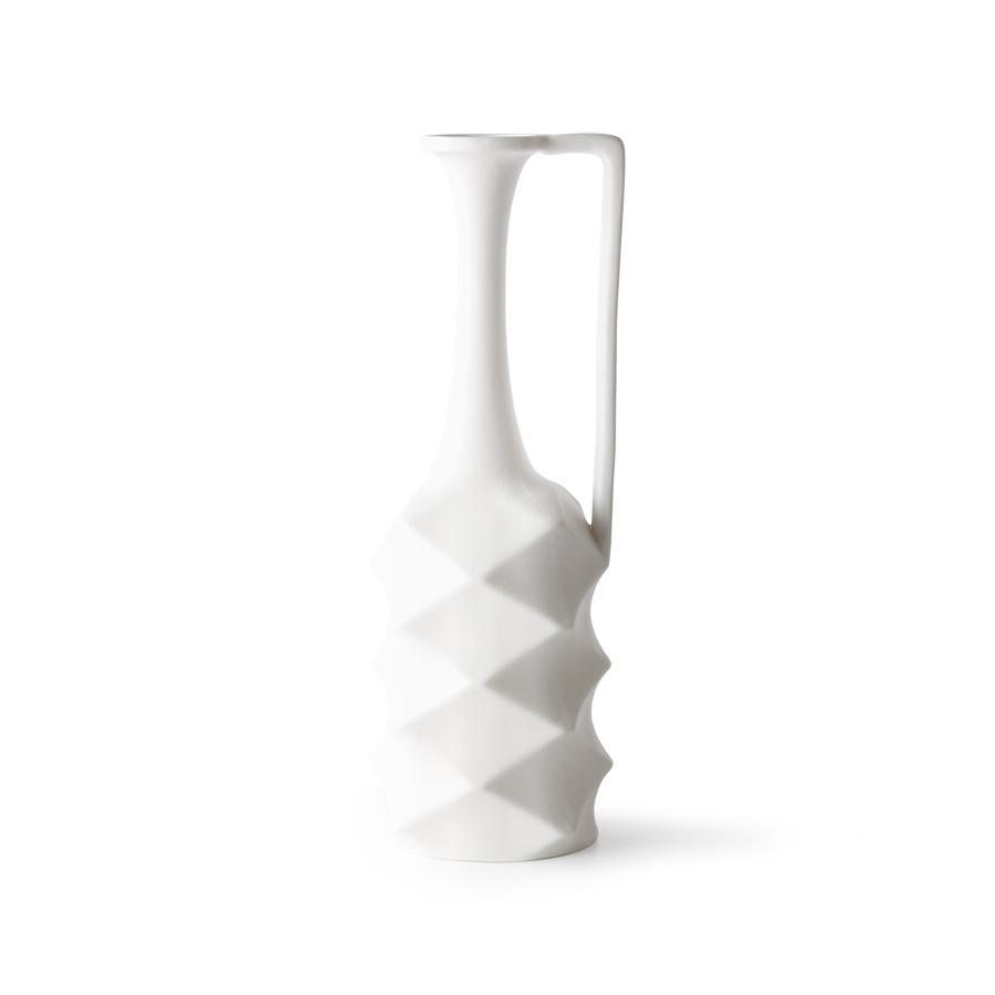 MATT WHITE PORCELAIN VASE - BY HK LIVING vase HK LIVING