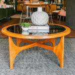Mid Century Glass Coffee Table table I am Nomad
