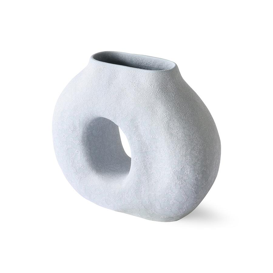 ORGANIC CIRCLE VASE - MATT ICE BLUE - BY HK LIVING vase HK LIVING
