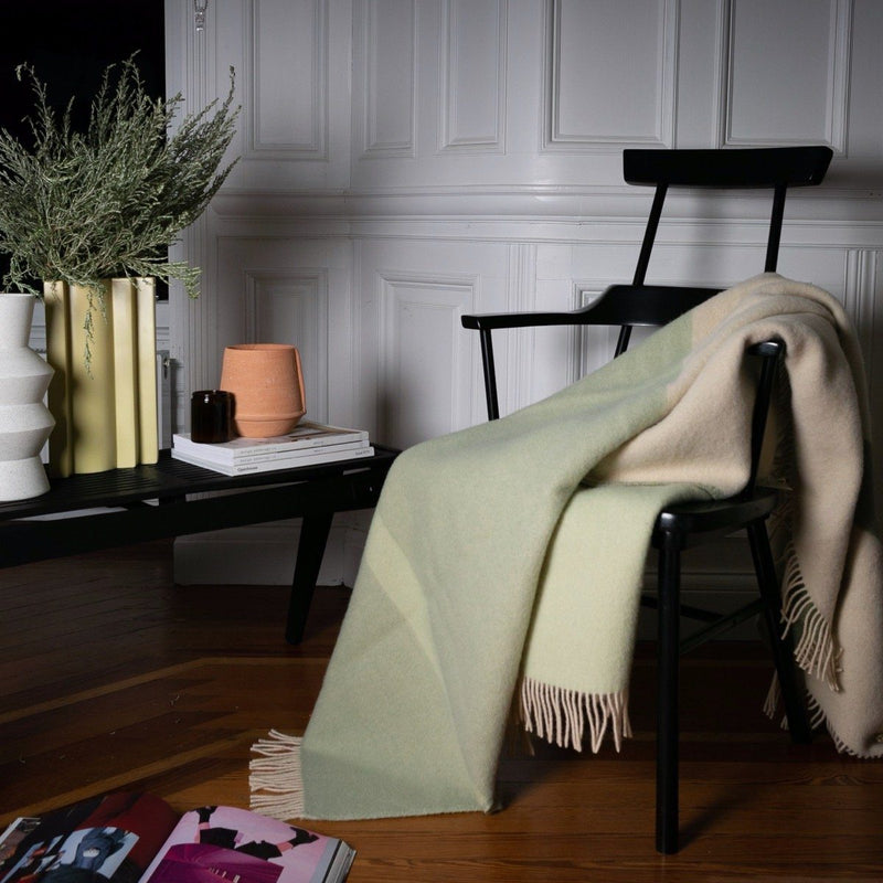 "PURE NEW WOOL THROW - ""ABSTRACT MEADOW"" - BY FORESTRY WOOL throw FORESTRY WOOL"