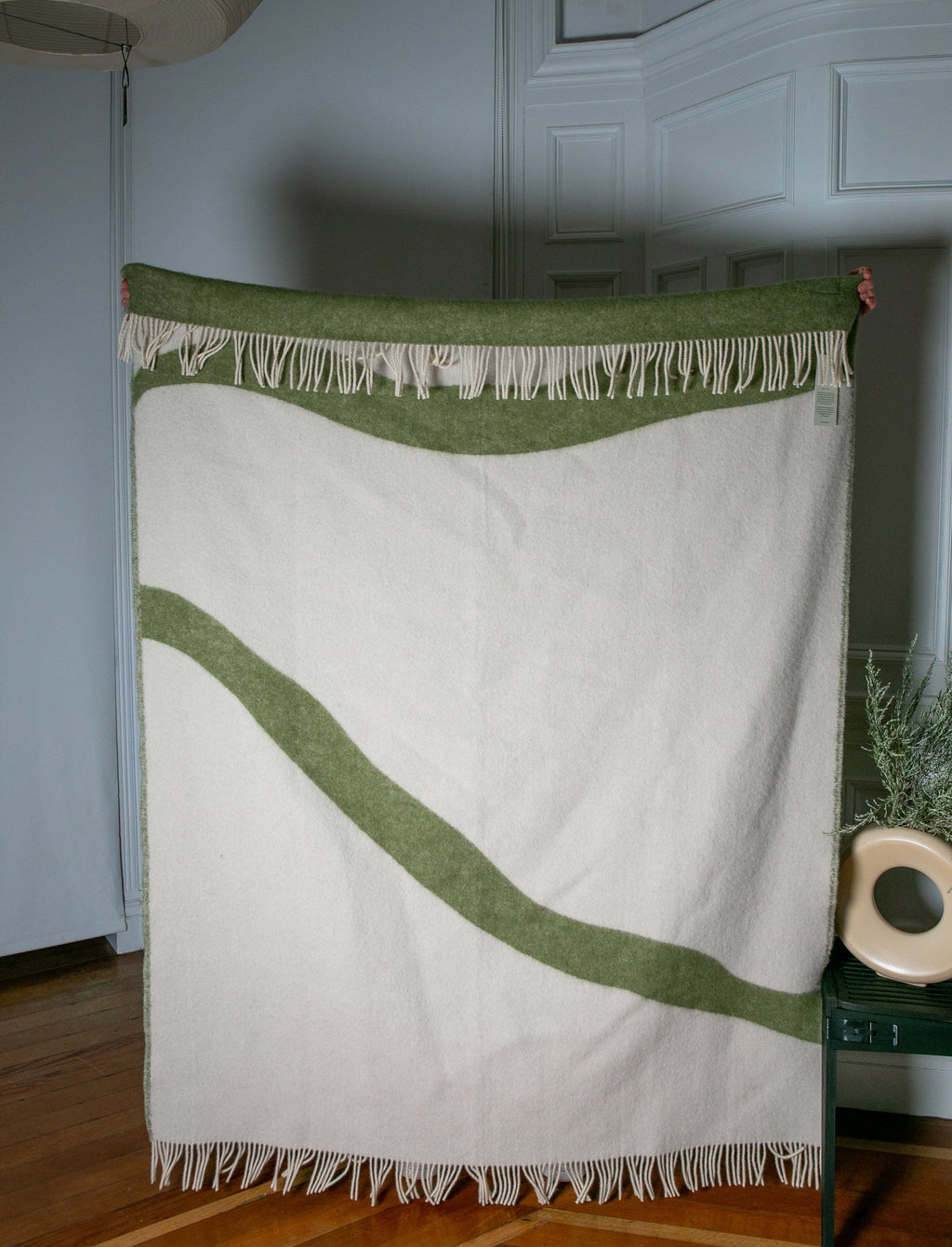 "PURE NEW WOOL THROW ""NATURE"" - GREEN - BY FORESTRY WOOL FORESTRY WOOL"