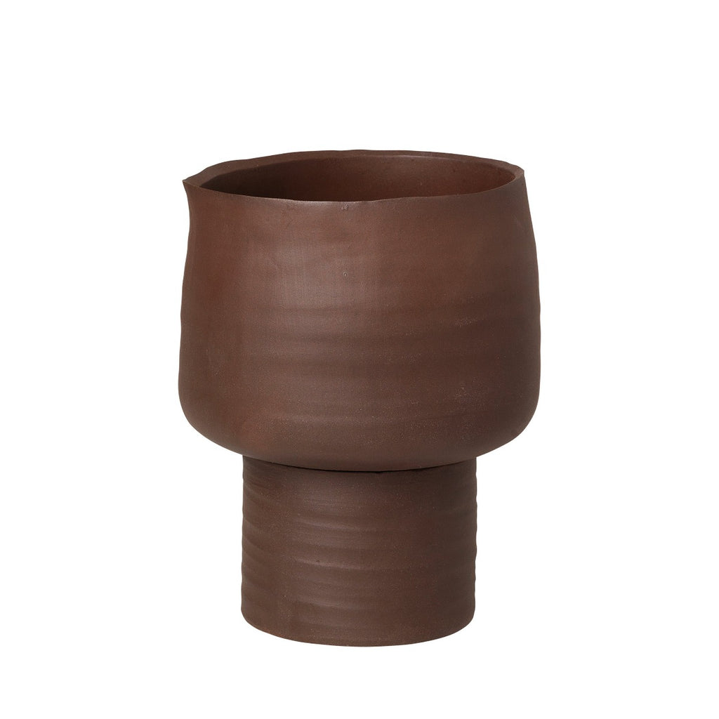 "RED STONEWARE ""AXIL"" PLANTER - MEDIUM - BY BROSTE COPENHAGEN planter BROSTE COPENHAGEN"