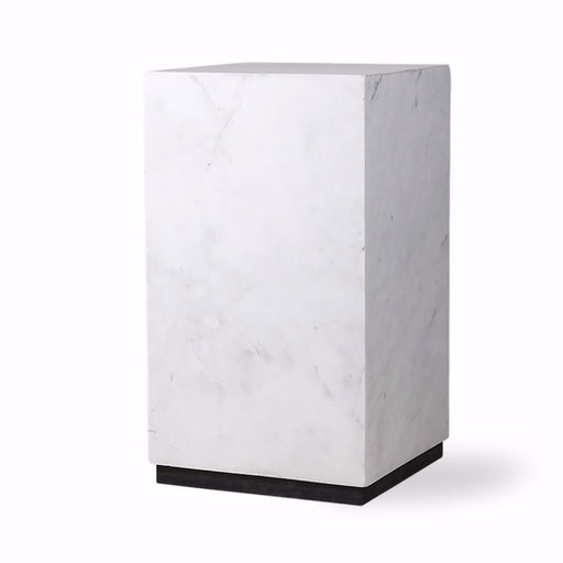 WHITE MARBLE BLOCK TABLE SMALL I am Nomad