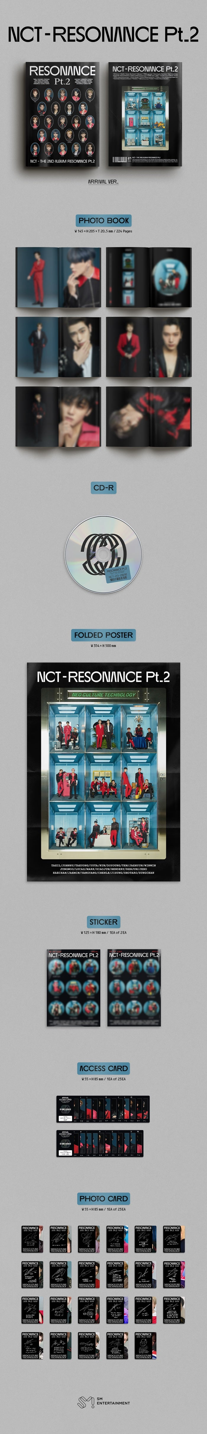 NCT - 2ND OFFICIAL ALBUM [RESONANCE PT.2] (ARRIVAL VER.)
