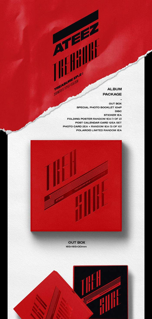 ATEEZ TREASURE EP.2: ZERO TO ONE 2do Mini Album